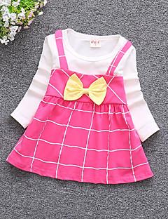 Χαμηλού Κόστους Πώληση-Μωρό Κοριτσίστικα Στάμπα Μακρυμάνικο Φόρεμα
