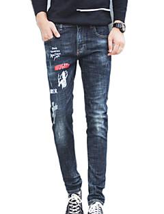 billige Herrebukser og -shorts-Herre Enkel Jeans Bukser Geometrisk