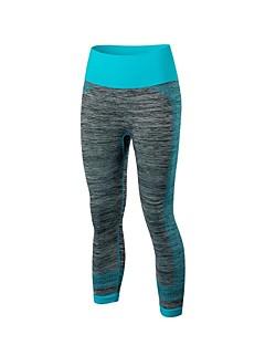 billige Løbetøj-Dame Løbeshorts - Fersken, Blå Sport Patchwork Spandex 3/4 Tights Yoga, Latin Dans, Træning & Fitness Sportstøj Letvægt, Hurtig Tørre, Anatomisk design