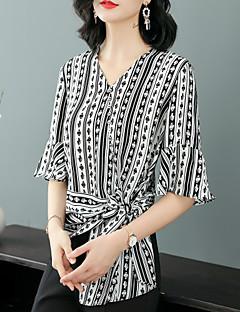 Χαμηλού Κόστους Γυναικείες Μπλούζες-Γυναικεία Μπλούζα Βίντατζ / Βασικό Ριγέ