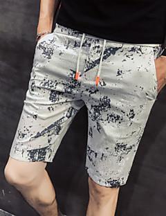 billige Herrebukser og -shorts-Herre Bomull Shorts Bukser Blomstret