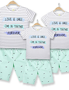 billige Sett med familieklær-Familie Look Stripet Kortermet T-skjorte