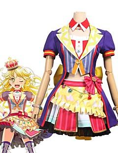 """billige Anime cosplay-Inspirert av BanG Dream Cosplay Anime  """"Cosplay-kostymer"""" Cosplay Klær Annen Kortermet Frakk / Skjørte / Sløyfe Til Unisex Halloween-kostymer"""