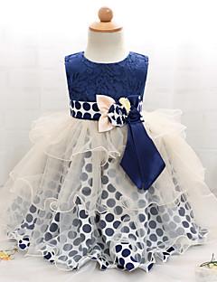 Χαμηλού Κόστους Πώληση-Μωρό Κοριτσίστικα Πουά / Patchwork Αμάνικο Φόρεμα