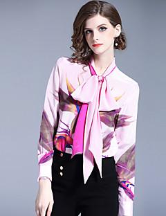 billige Dametopper-Skjorte Dame - Blomstret, Trykt mønster Forretning / Aktiv