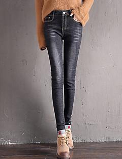 billige Kvinde Underdele-Dame Basale Jeans Bukser Ensfarvet