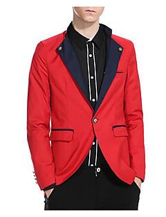 billige Herremote og klær-menns arbeid blazer-farge blokk skjorte krage