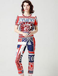economico Completi due pezzi da donna-Per donna Essenziale / sofisticato Polo Alfabetico Pantalone