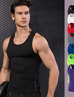c51ec8c5b0112e Men s Compression Tank Top Red Green Blue Sports Vest   Gilet Compression Clothing  Tank Top Fitness Gym Workout Workout Plus Size Activewear Quick Dry ...
