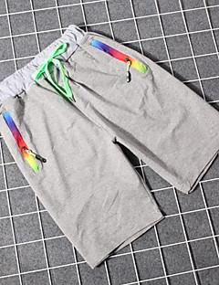 billige Herrebukser og -shorts-Herre Bomull Løstsittende Chinos / Shorts Bukser Ensfarget