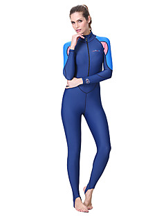 お買い得  ウェットスーツ/ダイビングスーツ/ラッシュガードシャツ-Bluedive 男性用 ダイブスキンスーツ SPF50, UVサンプロテクション, 速乾性 ナイロン フルボディー スイムウェア ビーチウェア ダイビングスーツ 水泳 / 潜水 / サーフィン / 高通気性 / 高弾性 / 高通気性