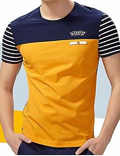 billige Herremote og klær-Bomull Rund hals Store størrelser T-skjorte Herre - Stripet / Kortermet