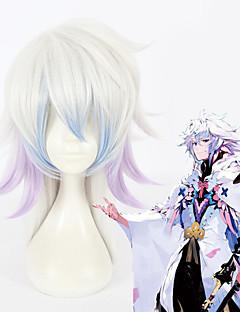 billige Anime cosplay-Cosplay Parykker Skjebne / Grand Order Merlin Sølv Anime Cosplay-parykker 18 tommers Varmeresistent Fiber Alle Halloween-parykker