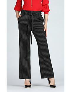 Χαμηλού Κόστους Γυναικεία Παντελόνια & Φούστες-Γυναικεία Βασικό / Κομψό στυλ street Παντελόνι επίσημο / Πλατύ Πόδι Παντελόνι Ριγέ