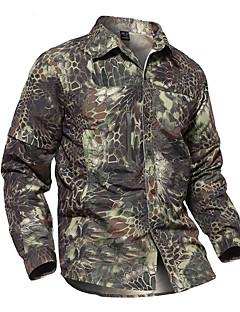 baratos Camisas para Trilhas-Homens Camisa de Trilha Ao ar livre Secagem Rápida, Vestível, Respirabilidade Camisa / Blusas Invisível Acampar e Caminhar / Exercicio Exterior / Multi-Esporte