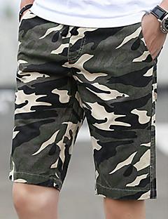 billige Herrebukser og -shorts-Herre Bomull Tynn Chinos / Shorts Bukser Kamuflasje