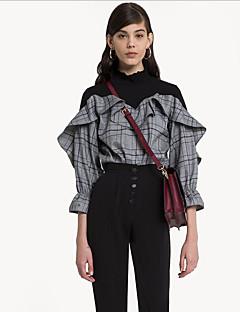 billige Skjorte-Krave Dame - Stribet I-byen-tøj Skjorte
