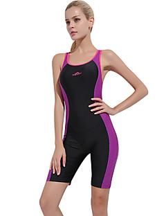 Χαμηλού Κόστους Αθλητικό μαγιό-SBART Γυναικεία Μαγιό Αντοχή σε χλώριο, Άνετο, Αθλητικό Νάιλον / Spandex Αμάνικο Μαγιό Ρούχα παραλίας Κορμάκι Patchwork Κολύμβηση