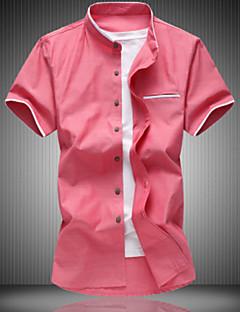 billige Herremote og klær-Skjorte Herre - Ensfarget Arbeid / Kortermet