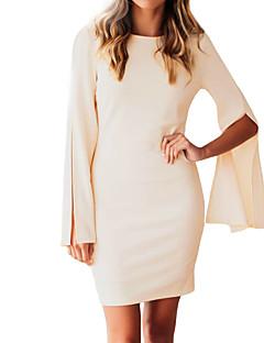 Χαμηλού Κόστους Ώμοι Έξω-Γυναικεία Κομψό στυλ street Θήκη Φόρεμα - Μονόχρωμο Μίνι