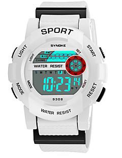 a46e7f650c5 SYNOKE Homens Mulheres Relógio Esportivo Relogio digital Digital Couro PU  Acolchoado Preta   Branco   Rosa 50 m Impermeável Calendário Cronógrafo  Digital ...