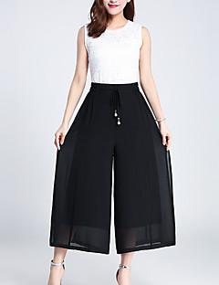 Χαμηλού Κόστους Πλατύ Πόδι-Γυναικεία Ενεργό Πλατύ Πόδι Παντελόνι Μονόχρωμο Μαύρο & Κόκκινο