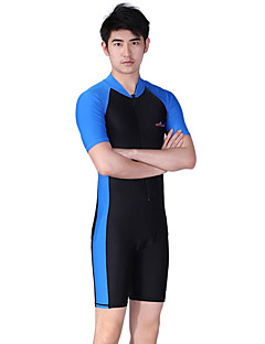 3ab1c98d3d Dive Sail Men s Rash Guard Dive Skin Suit SPF50 UV Sun Protection Quick Dry  Chinlon Short Sleeve Swimwear Beach Wear Diving Suit Patchwork Front Zip ...