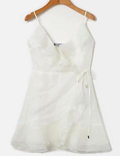 billige Minikjoler-Dame Skede Kjole - Ensfarvet Mini