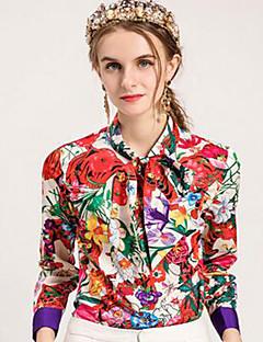 billige Dametopper-Skjorte Dame - Blomstret / Regnbue Aktiv / Grunnleggende