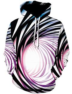 billige Hættetrøjer og sweatshirts til herrer-Herre Plusstørrelser Sport Gade / Punk & gotisk Langærmet Hætte Hattetrøje - Farveblok / 3D, Trykt mønster