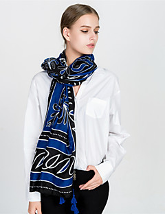 baratos Cachecóis da Moda-Mulheres Vintage / Básico Retângular - Franjas Geométrica