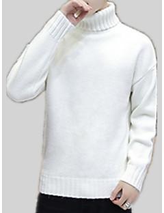tanie Męskie swetry i swetry rozpinane-Męskie Golf Pulower Jendolity kolor Długi rękaw