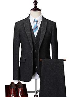 billige Herremote og klær-Store størrelser Spissjakkeslag drakter-Ensfarget Herre / Langermet