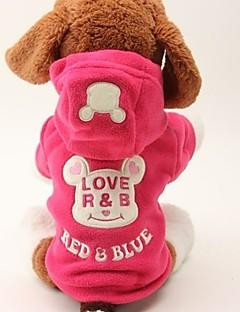 billiga Hundkläder-Hund / Katt Kappor / Jumpsuits Hundkläder Ord / fras / Figur Rosa Tyg Kostym För husdjur Dam Ledig / Sportig