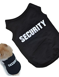 billiga Hundkläder-Hund Väst Hundkläder Citat och ordspråk Svart / Rosa Cotton Kostym För husdjur Unisex Cosplay