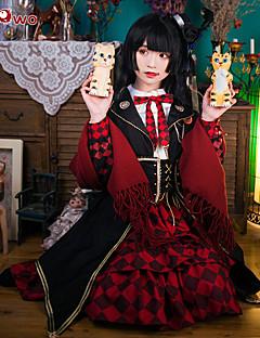 """billige Anime Kostymer-Inspirert av Touken Ranbu Kashuu Kiyomitsu Anime  """"Cosplay-kostymer"""" Halloween-kostymer Cosplay Klær Animé Langermet Kjole / Sjal / Belte / bånd Til Dame"""