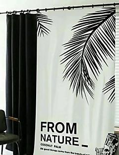 billige Mørkleggingsgardiner-gardiner gardiner Soverom Geometrisk Poly / Bomull Blanding Trykket