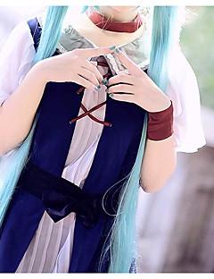 """billige Anime cosplay-Inspirert av Vokaloid Hatsune Miku Anime  """"Cosplay-kostymer"""" Cosplay Klær Enkel Skjørte / Belte / Hodeplagg Til Dame Halloween-kostymer / Chiffon"""
