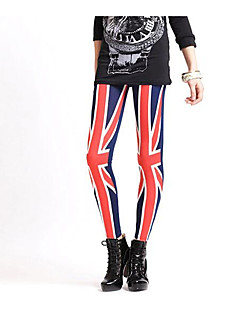 baratos Leggings para Mulheres-Mulheres Esportivo Legging - Sólido / Listrado Cintura Alta