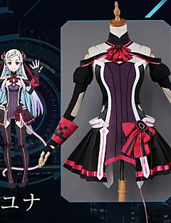 """billige Anime Kostymer-Inspirert av Sword Art Online Yuna Anime  """"Cosplay-kostymer"""" Cosplay Klær Animé Kjole / Hansker / Sokker Til Dame"""