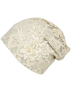 billige Hatter til damer-Dame Grunnleggende / Ferie Solhatt - Blonde / Perler, Blomstret