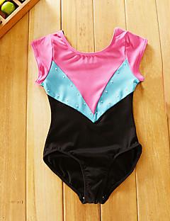 tanie Dziecięca odzież do tańca-Balet Body Dla dziewczynek Wydajność Spandeks Materiały łączone Krótki rękaw Trykot opinający ciało / Śpiochy dla dorosłych