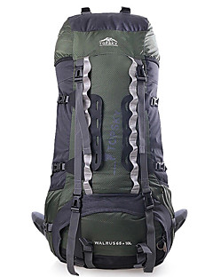 billiga Ryggsäckar och väskor-TOPSKY 75 L Ryggsäck - Bärbar, Mateial som andas Utomhus Camping, Klättring, Skidor Nylon Orange, Armégrön