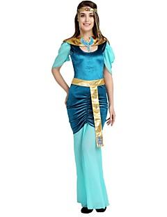 billige Halloweenkostymer-Egyptiske Kostymer Kostume Dame Halloween Karneval Maskerade Festival / høytid Halloween-kostymer Drakter Turkis Ensfarget Halloween Halloween