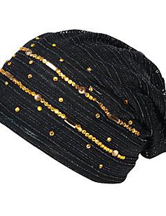 billige Trendy hatter-Dame Grunnleggende / Ferie Solhatt - Netting, Stripet