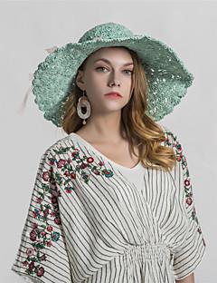 billige Hatter til damer-Dame Grunnleggende Stråhatt Trykt mønster