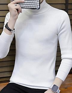 tanie Męskie swetry i swetry rozpinane-Męskie Weekend Golf Szczupła Pulower Jendolity kolor Długi rękaw