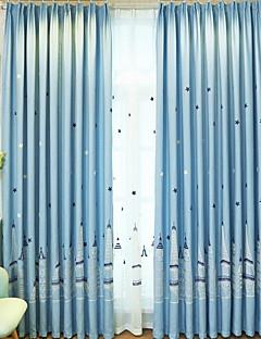 billige Mørkleggingsgardiner-Barnegardiner Soverom Geometrisk Poly / Bomull Blanding Trykket
