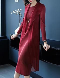 Χαμηλού Κόστους 9-5 Looks-Γυναικεία Βασικό / Κομψό Θήκη Φόρεμα - Μονόχρωμο Μίντι