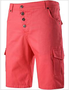 billige Herremote og klær-Herre Gatemote Chinos Bukser Ensfarget